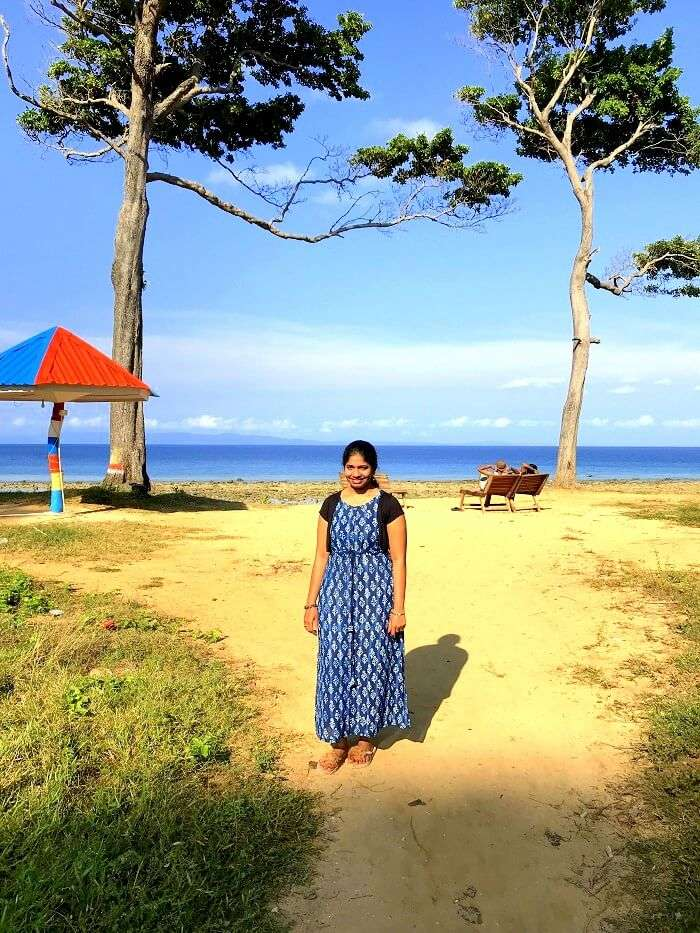 Lady at Andaman Bharatpur Beach
