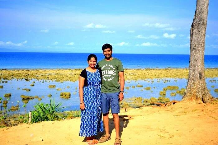 Couple at Bharatpur Beach in Andaman