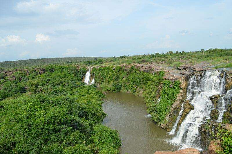 the gorgeous ethipothala waterfall