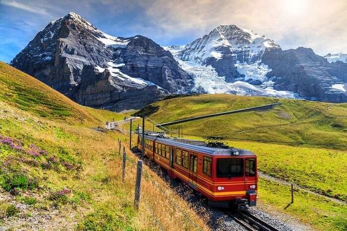 Thrilling train ride to Jungfraujoch