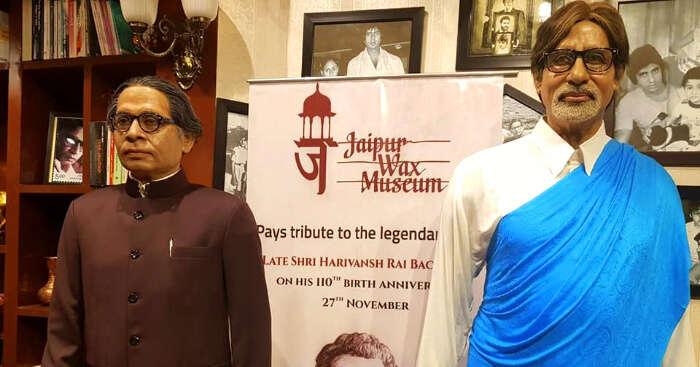 statue of amitabh bachhan and harivansh rai bacchan