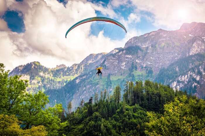 Paragliding over the French Alps in Interlaken