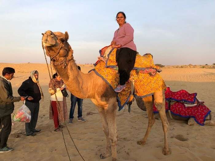 camel ride in jaisalmer