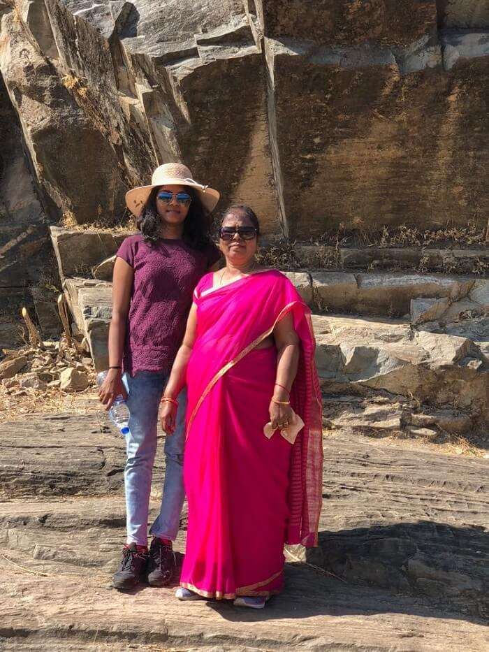 radha and her mother in Kumbhalgarh Fort