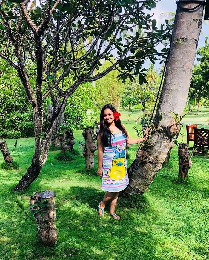 garden in sun island resort