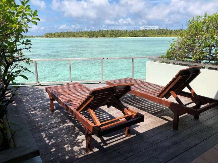 water villa at sun island resort