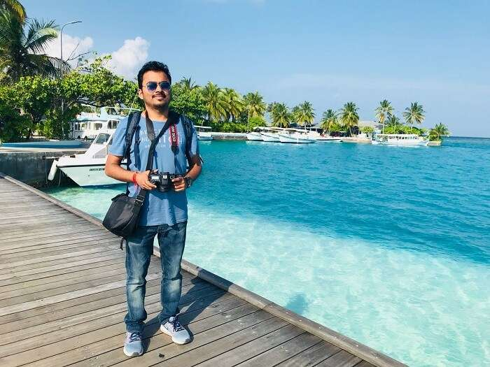 nihal and his wife in maldives