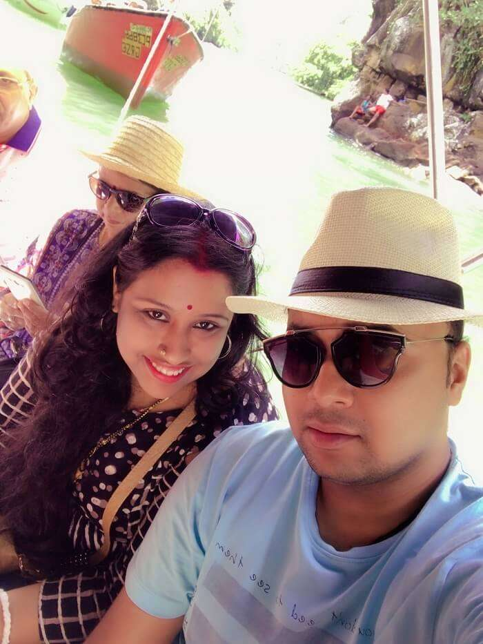 Himanshu honeymoon trip to Mauritius: himanshu and wife