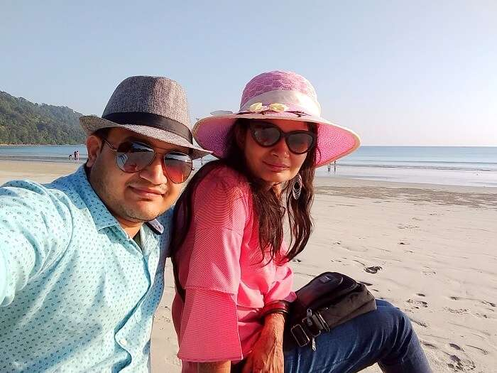 couple on a beach in andaman