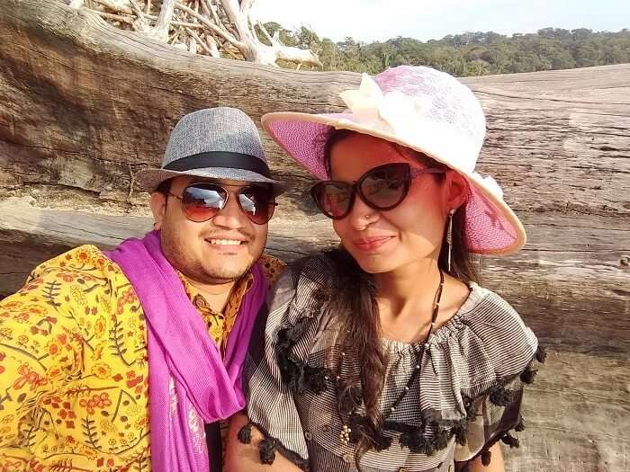 couple on honeymoon in andaman