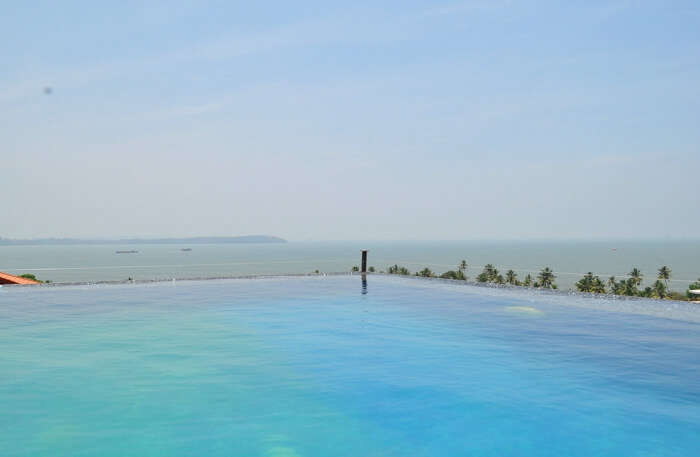 Pool in Infini Villa in Goa