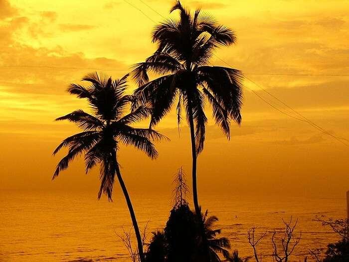 Beautiful sunset at Bandstand