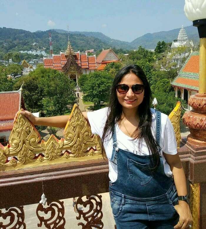 Female traveler in Thailand