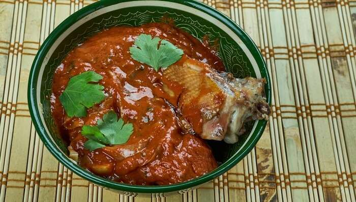 duck meat curry assam food