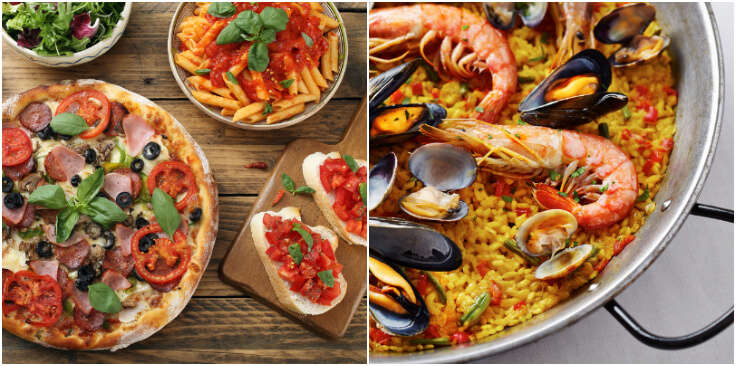 food of italy and spain