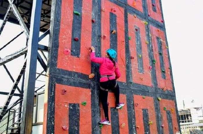 rock climbing in frenzy adventure