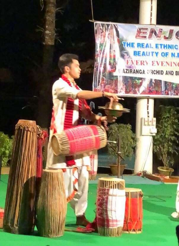 assamese dancer at orchid park