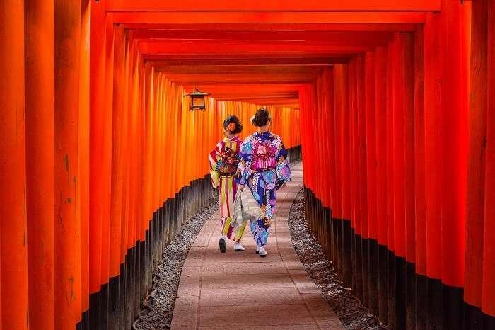 japan women kimono