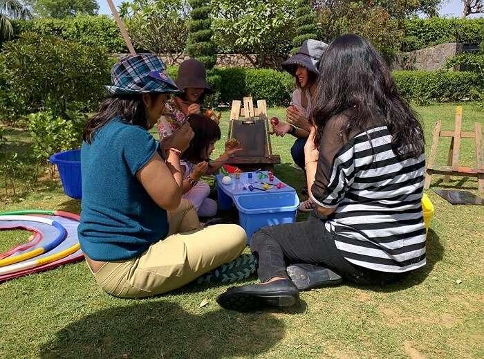 kids enjoying in never enuf garden