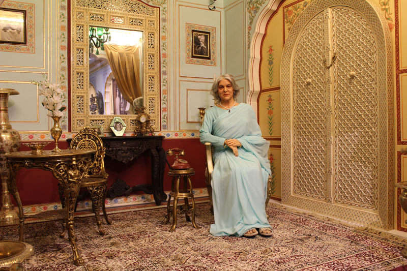 wax statue of the rajmata