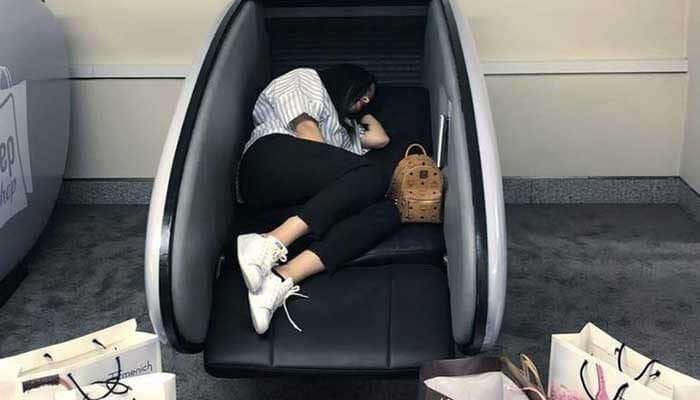 sleeping pod at dubai mall