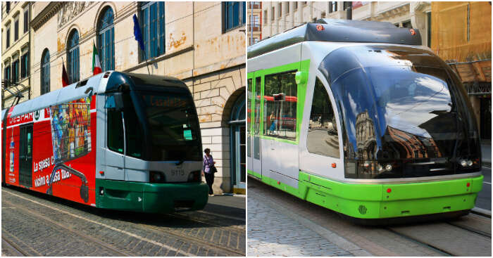 public transport of italy and spain