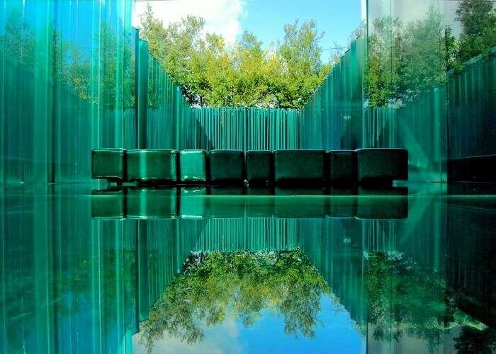 Glass Hotel in Olot, Spain