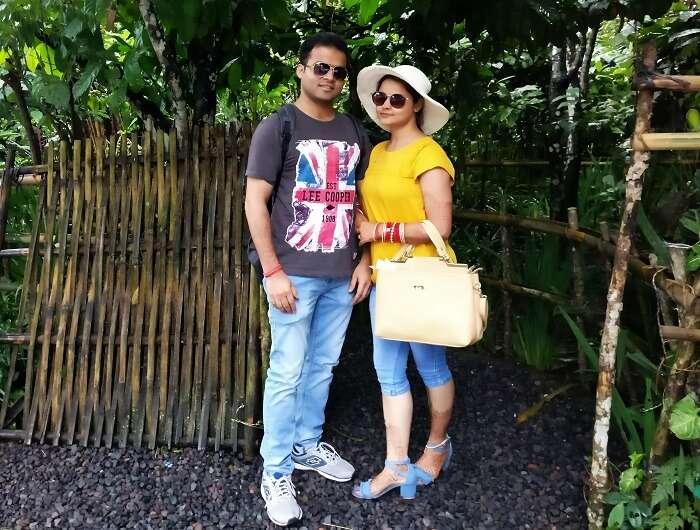 Couple on a Bali honeymoon