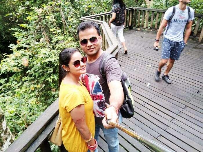 Couple enjoys on a Bali honeymoon