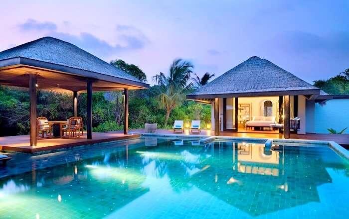 Exterior of Anantara Kihavah Maldives Villas
