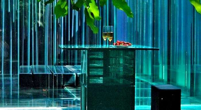 Interior of Glass Hotel in Spain