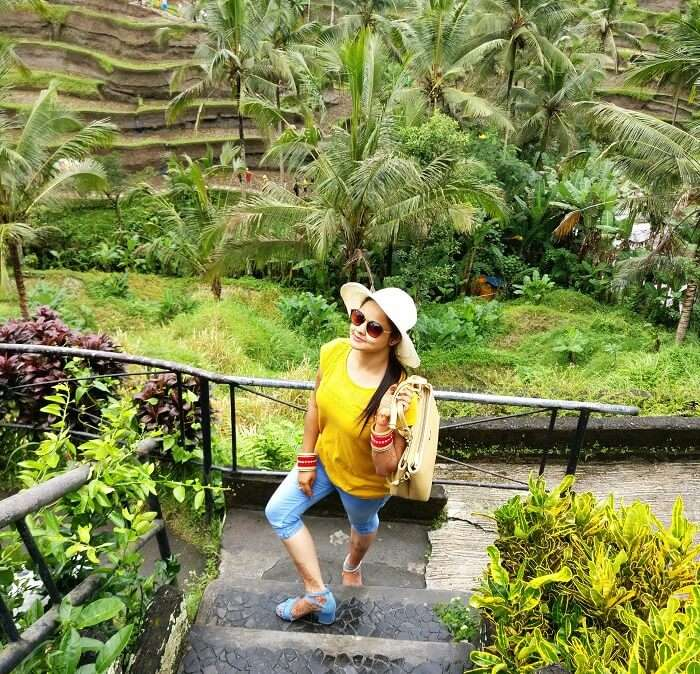 Female traveler in Bali