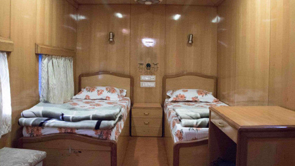 a luxurious train coach
