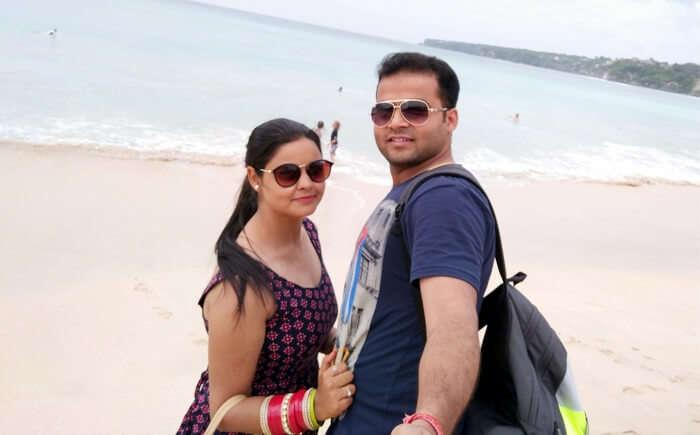Couple on Dreamland Beach Bali