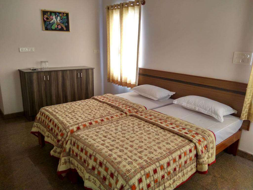 double bed in a homestay