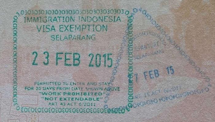 Visa Of Bali vs Malaysia