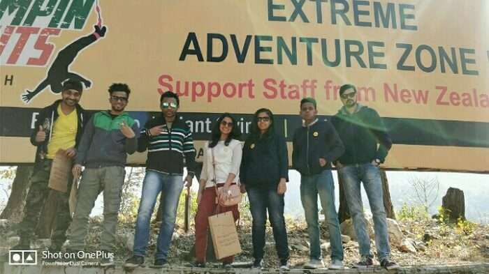 friends on a trip to rishikesh