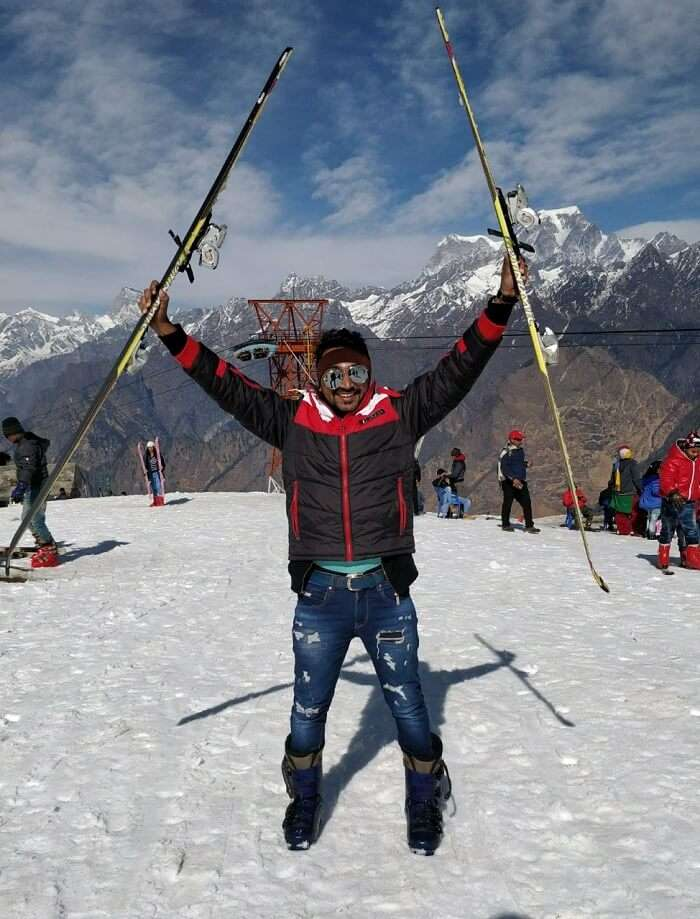 auli skiiing