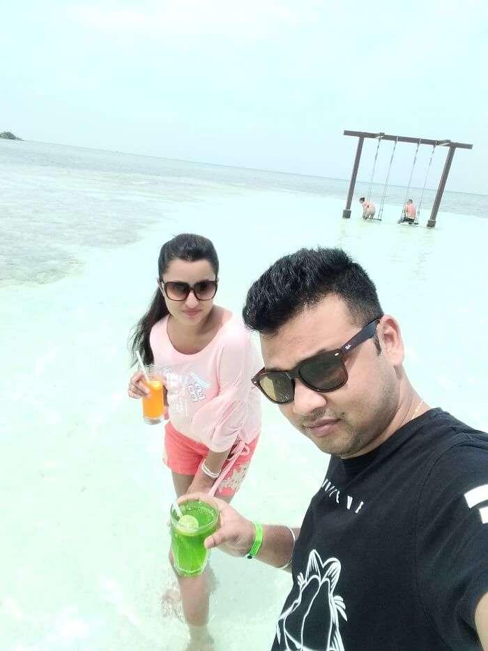 honeymoon in adaaran resort