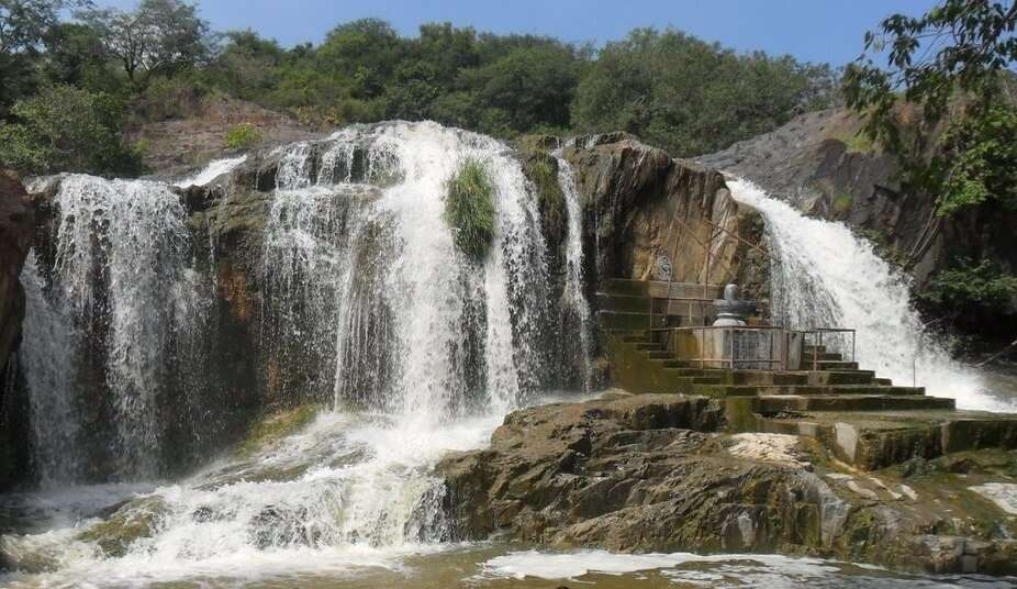 a waterfall in Vellore