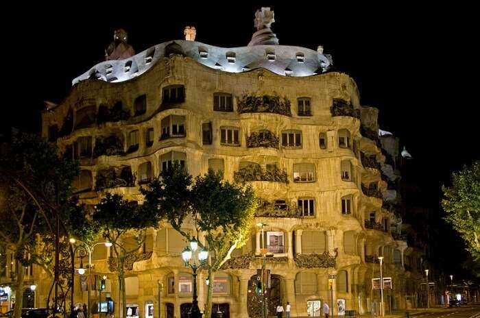 Night tour at Pedrera