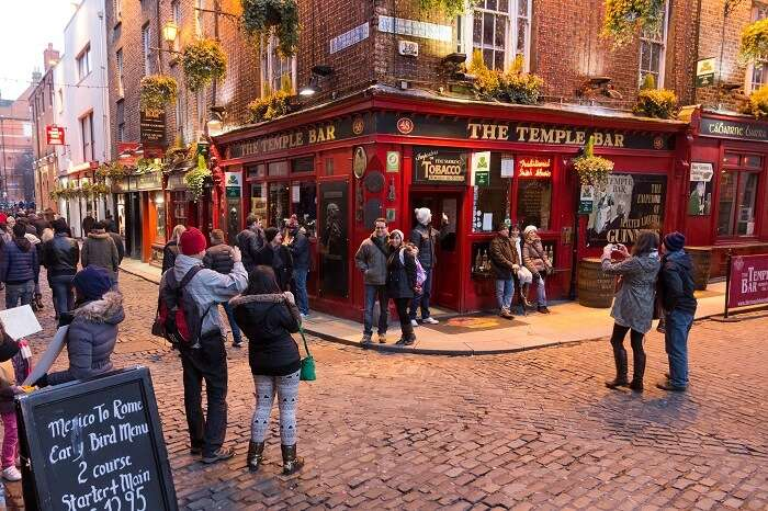 Party at the Temple Bar Dublin