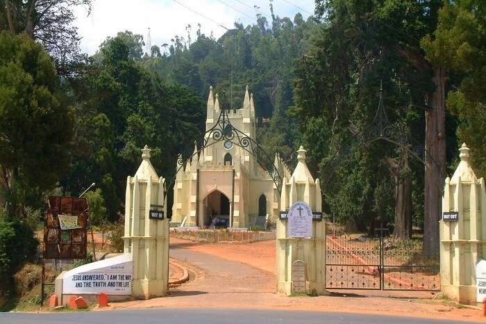 Pay your respects at the St. Stephens Church ooty
