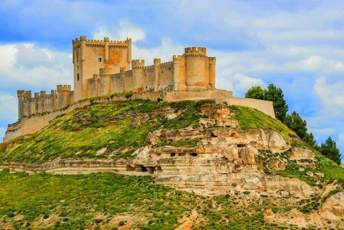 Penafiel castle in spain