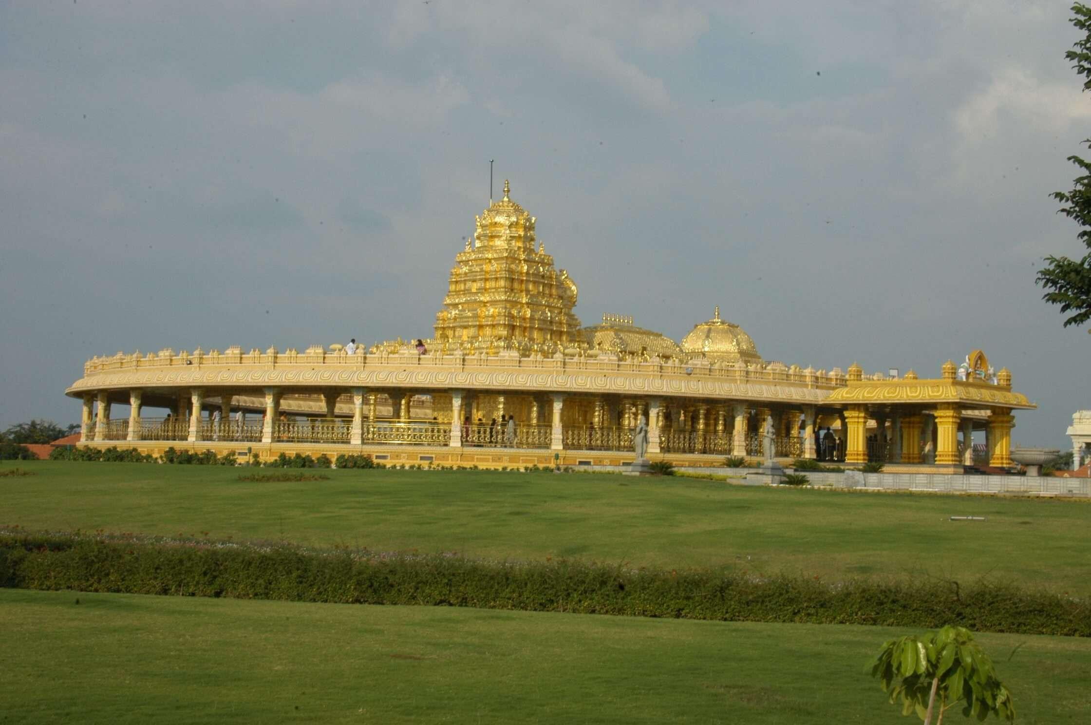 a golden temple
