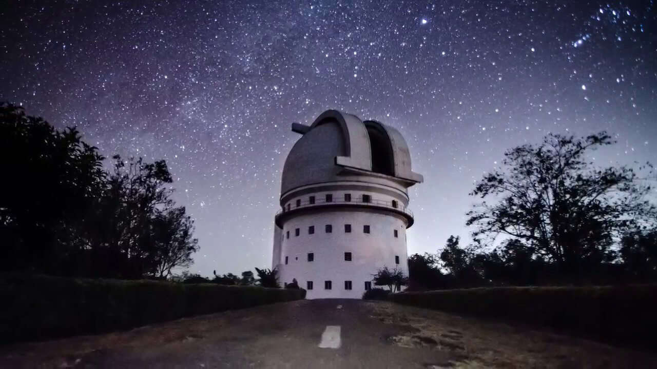 an observatory at night