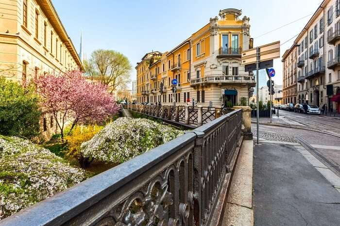 Via Brera in milan