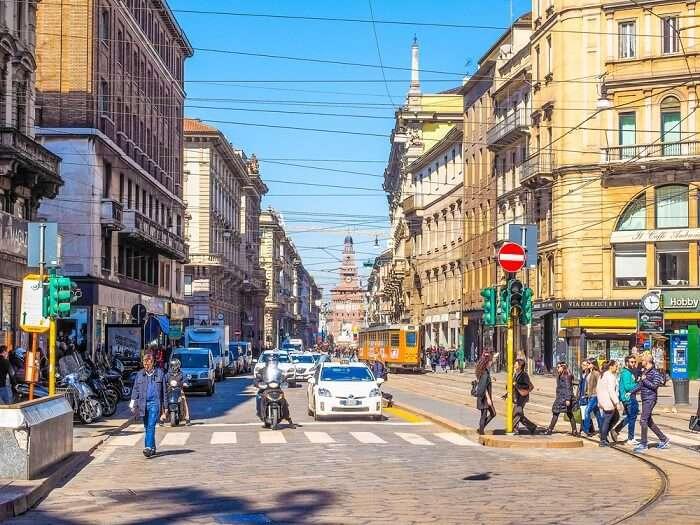 Via Torino in milan