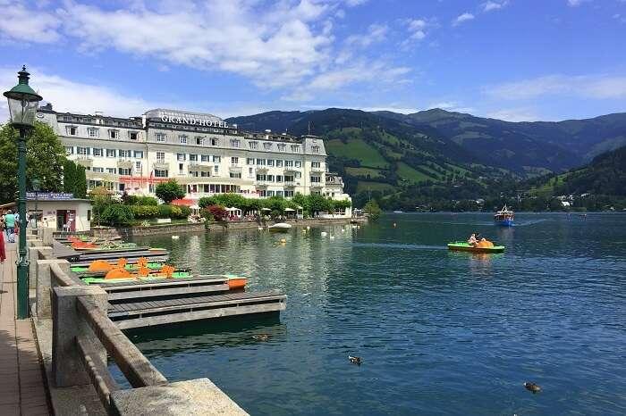 Zellersee lake austria