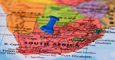 Pin on a map of South Africa